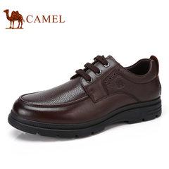 Camel/骆驼男鞋2017秋季新款真皮商务休闲鞋耐磨低帮皮鞋男爸爸鞋