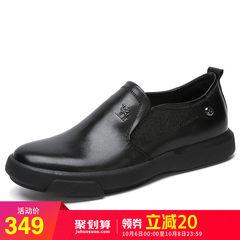 骆驼男鞋秋季时尚乐福鞋 牛皮低帮套脚鞋 舒适休闲男士皮鞋爸爸鞋