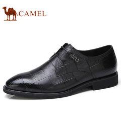 Camel/骆驼男鞋2017秋季新品商务正装牛皮系带真皮低帮鞋男士皮鞋