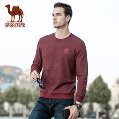 骆驼男装秋冬季时尚潮青年男士休闲上衣棉质套头长袖圆领卫衣男衫