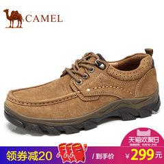 Camel骆驼男鞋 2017秋季新品户外休闲耐磨防滑磨砂牛皮大休闲男鞋