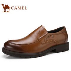 Camel/骆驼男鞋2017秋季新品商务休闲低帮鞋真皮套脚舒适男士皮鞋