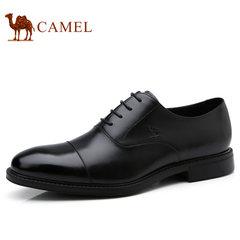 Camel/骆驼男鞋2017秋季新品商务正装鞋低帮真皮系带男士皮鞋子