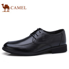Camel/骆驼男鞋2017秋季新品真皮系带舒适商务正装皮鞋办公皮鞋男