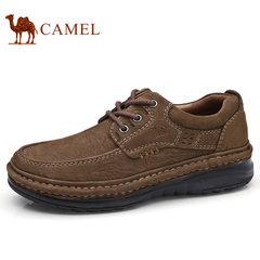Camel/骆驼男鞋2017秋季新品手工缝合牛皮日常休闲鞋柔软缓震皮鞋