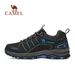 【2017新品】骆驼户外徒步鞋 男女款防滑舒适低帮系带徒步鞋情侣