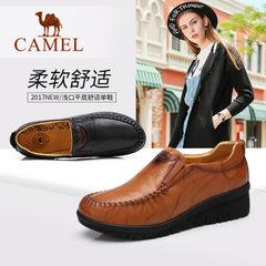 Camel/骆驼真皮女单鞋平底浅口日常休闲女鞋简约舒适女士鞋子