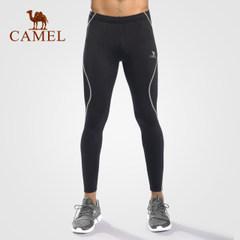 CAMEL駱駝戶外運動褲 男款針織緊身長褲健身褲透氣干爽回彈瑜伽褲