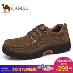 Camel骆驼男鞋皮鞋男士2017秋季新品户外休闲鞋工装鞋磨砂牛皮鞋