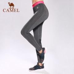 CAMEL骆驼运动长裤女 跑步健身透气吸湿排汗瑜伽休闲女款针织长裤
