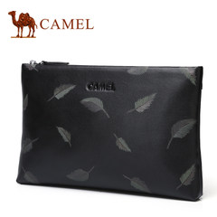 Camel骆驼男包新品男士牛皮手拿包休闲横款信封包软皮青年手包男