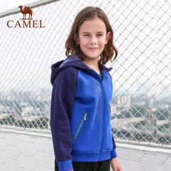 CAMEL/骆驼秋冬季男童开胸带帽微弹卫衣儿童加厚拉链外套
