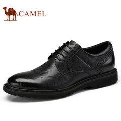 Camel/骆驼男鞋2017秋季新品商务皮鞋个性雕花防滑商务休闲皮鞋