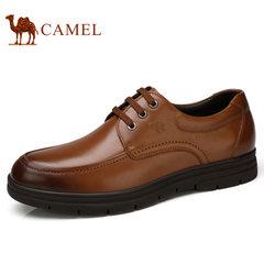 Camel/骆驼男鞋2017秋季新品柔软缓震按摩小牛皮舒适商务休闲皮鞋
