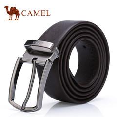 Camel骆驼腰带男士牛皮皮带商务正装休闲中青年针扣男版裤腰皮带