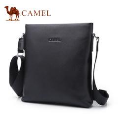 Camel骆驼男包2017新款男士真皮单肩包商务休闲青年竖款斜挎包男