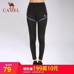 骆驼女款瑜伽长裤 跑步健身微弹耐穿女运动长裤9分打底裤休闲裤子