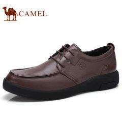 Camel/骆驼男鞋2017秋季新品复古打蜡皮柔软防滑商务休闲皮鞋