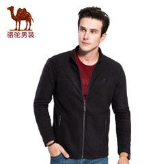 骆驼男装 2017秋季新款休闲时尚立领男士外套青年纯色简约长袖