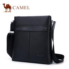 Camel骆驼男包2017新款男士真皮单肩包休闲时尚牛皮竖款斜挎包男