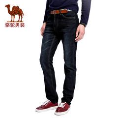 Camel/骆驼男装 2017秋季新款时尚直筒微弹水洗男士休闲牛仔裤