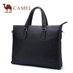 Camel骆驼男包2017新款男士真皮手提包商务横款单肩斜挎公文包男