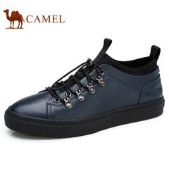 Camel/骆驼男鞋2017秋季新品户外运动防滑休闲鞋时尚套袜滑板鞋