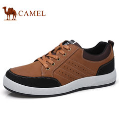 Camel/骆驼男鞋2017秋季新品复古运动休闲板鞋防滑日常商务皮鞋