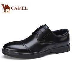 Camel/骆驼男鞋2017秋季新品小牛皮舒适商务正装皮鞋防滑男士皮鞋