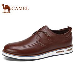 Camel/骆驼男鞋新品日常休闲低帮真皮鞋舒适耐磨休闲男鞋