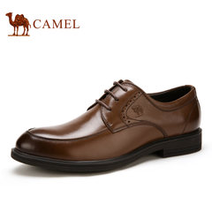 Camel/骆驼男鞋2017秋季新品低帮鞋系带皮鞋男士商务休闲皮鞋子