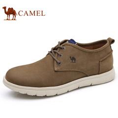 Camel/骆驼男鞋硬朗时尚轻盈工装鞋柔软缓震牛皮工装休闲鞋
