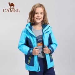 camel/骆驼童装 儿童 三合一 冲锋衣 可拆卸防风帽男女童透气外套