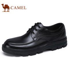 Camel/骆驼男鞋2017秋季新品低帮皮鞋真皮商务男士休闲鞋圆头系带