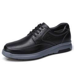 骆驼男鞋 秋季日常休闲皮鞋 男低帮系带牛皮舒适防滑爸爸鞋