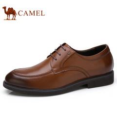 Camel/骆驼男鞋秋季正装皮鞋男牛皮系带男士商务鞋德比鞋