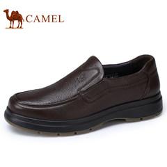 Camel/骆驼男鞋2017秋季新品牛皮低帮套脚鞋商务休闲男士皮鞋子