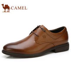 camel骆驼男鞋秋季商务擦色雕花轻舒耐折商务正装皮鞋