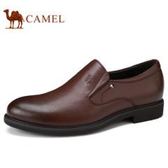 Camel/骆驼男鞋2017秋季新品皮鞋男商务正装低帮牛皮套脚男士皮鞋