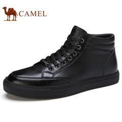 Camel/骆驼男鞋2017秋季新品滑板鞋真皮户外运动休闲鞋时尚潮鞋