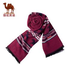 骆驼男装 冬季新款 保暖时尚 双纹理 青年男女通用围巾