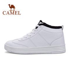 骆驼运动加绒防滑耐磨男款滑板鞋 减震保暖男休闲鞋