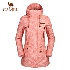 骆驼户外冲锋衣女装 防风保暖工装两件套冲锋衣