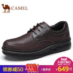 Camel/骆驼男鞋2017秋季新品时尚商务皮鞋柔软牛皮日常休闲皮鞋