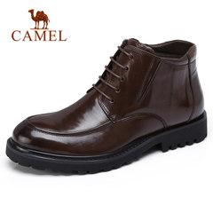 骆驼男鞋 秋冬加绒保暖复古休闲皮靴 防滑商务休闲皮鞋男靴子