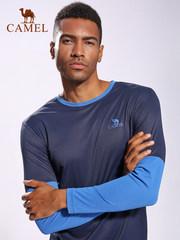 骆驼男女运动服套头休闲卫衣长袖跑步 紧身健身运动速干T恤男上衣