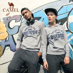 CAMEL/骆驼运动卫衣情侣款时尚潮流印花跑步健身舒适连帽休闲男服