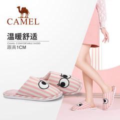 Camel/骆驼女加绒保暖居家棉拖轻盈休闲舒适绒毛家居拖鞋室内拖鞋