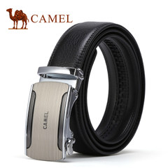 Camel/骆驼腰带男士牛皮自动扣皮带中青年真皮商务时尚休闲裤带男