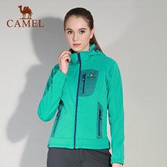 骆驼&8264登山队系列 户外女款秋冬拼接防风防寒加绒保暖软壳衣